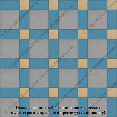 Квадрат 200*200 мм Корзинка (серый, синий, жёлтый)