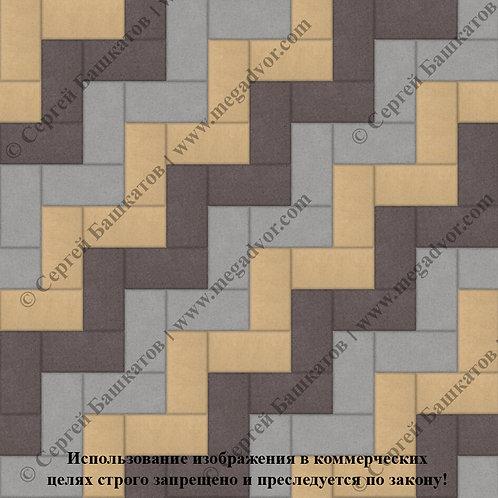Кирпичик Максимум (серый, коричневый, жёлтый)