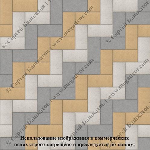Кирпичик Максимум (серый, жёлтый, белый)