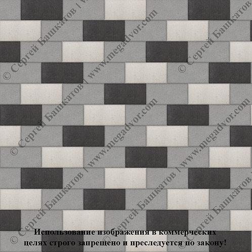 Кирпичик Стандарт (серый, белый, чёрный)