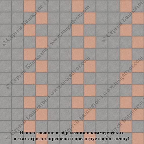 Квадрат 100х100 Эконом (серый, оранжевый)