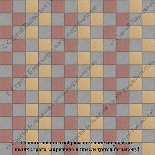 Квадрат 100х100 Стандарт (серый, красный, жёлтый)