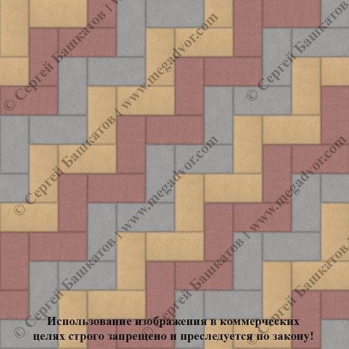Кирпичик Максимум (серый, красный, жёлтый)