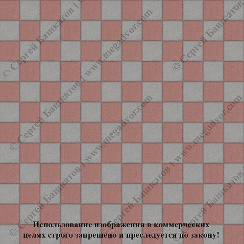 Квадрат 100х100 Шахматы (серый, красный)
