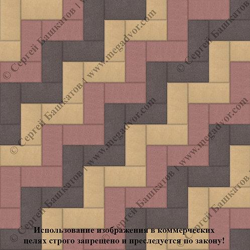 Кирпичик Максимум (красный, жёлтый, коричневый)