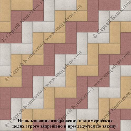 Кирпичик Максимум (красный, жёлтый, белый)