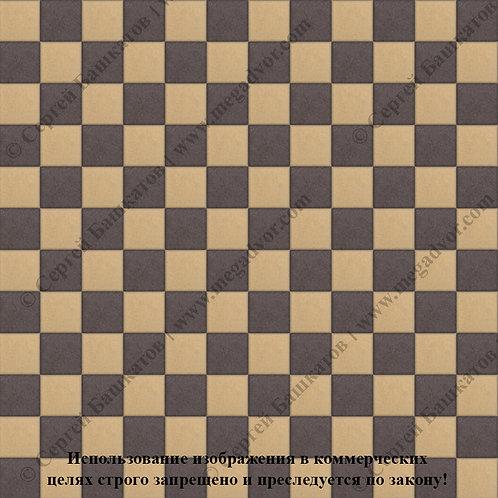 Квадрат 100х100 Шахматы (коричневый, жёлтый)