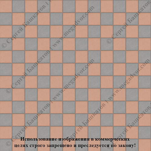 Квадрат 100х100 Шахматы (серый, оранжевый)