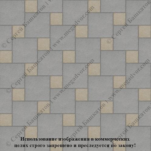 Квадрат со Вставкой (серый, хаки)