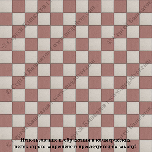 Квадрат 100х100 Шахматы (красный, белый)