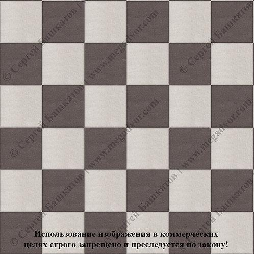 Квадрат 200*200 Шахматы (белый, коричневый)