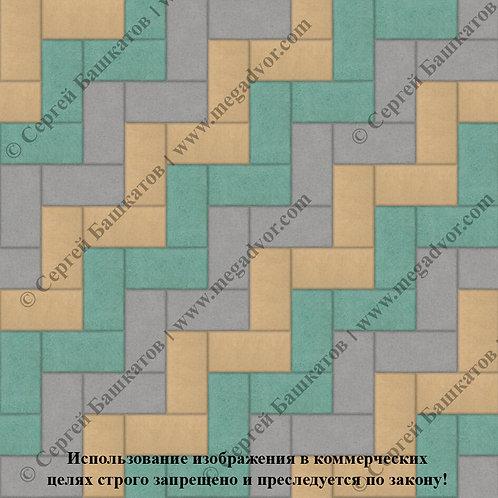 Кирпичик Максимум (серый, жёлтый, зелёный)