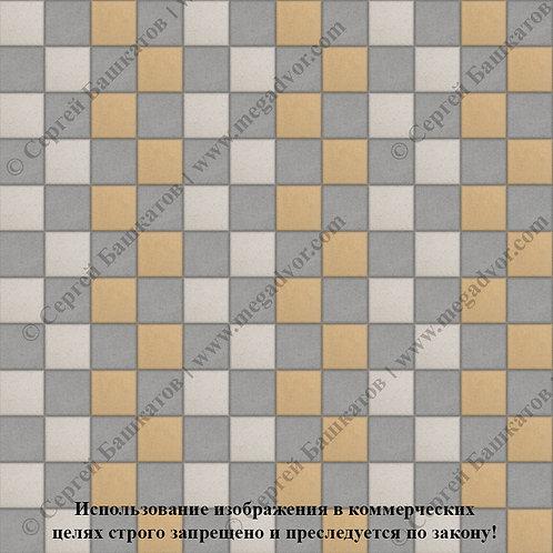 Квадрат 100х100 Стандарт (серый, жёлтый, белый)