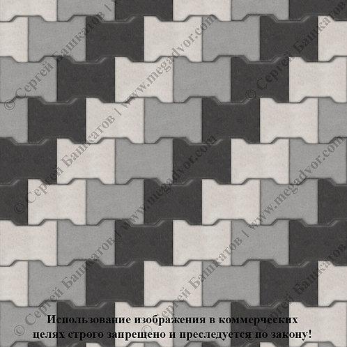 Катушка Максимум (серый, белый, чёрный)
