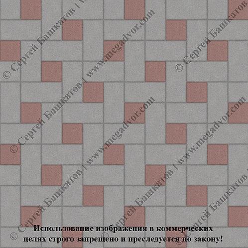 Кирпичик Вставка (серый, красный)