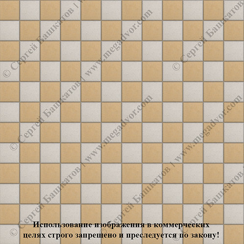 Квадрат 100х100 Шахматы (белый, жёлтый)
