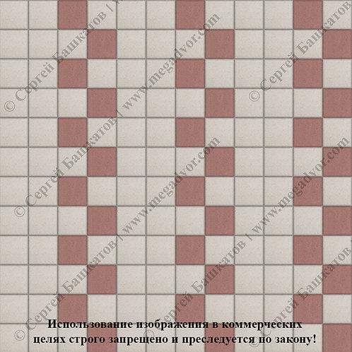 Квадрат 100х100 Эконом (белый, красный)