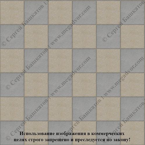 Квадрат 200*200 Шахматы (серый, хаки)