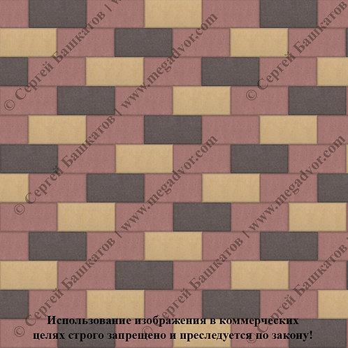Кирпичик Стандарт (красный, коричневый, жёлтый)