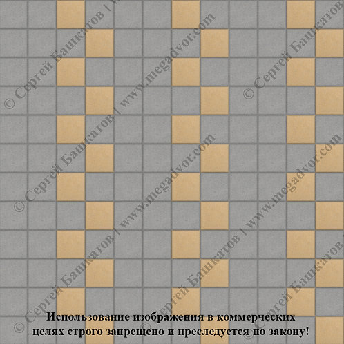 Квадрат 100х100 Эконом (серый, жёлтый)