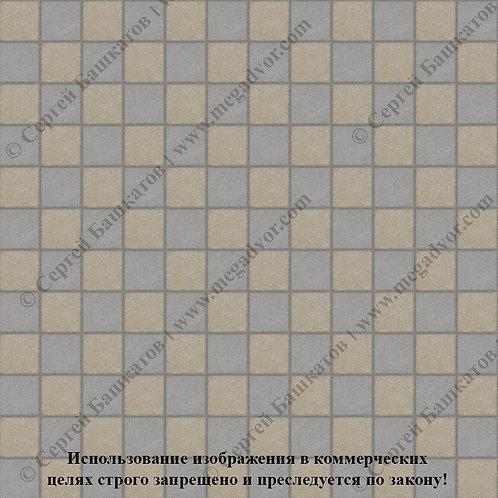 Квадрат 100х100 Шахматы (серый, хаки)