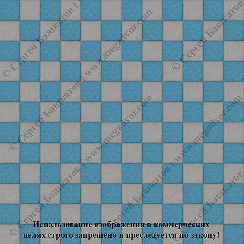 Квадрат 100х100 Шахматы (серый, синий)