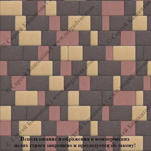 Старый Город Стандарт (коричневый, жёлтый, красный)