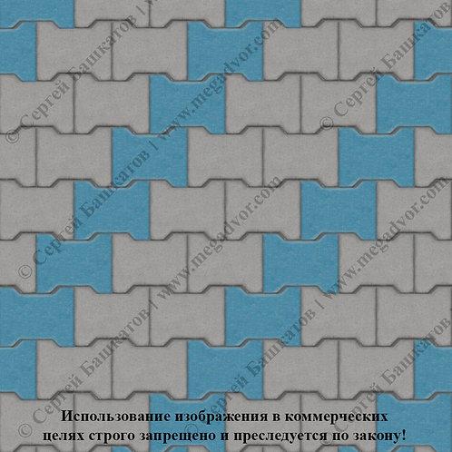 Катушка Стандарт (серый, синий)