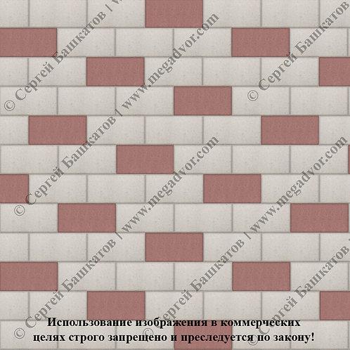 Кирпичик Эконом (белый, красный)