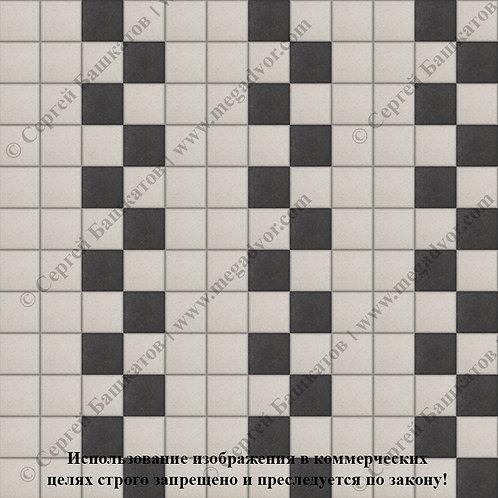 Квадрат 100х100 Эконом (белый, чёрный)