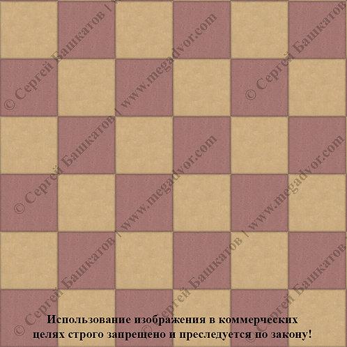 Квадрат 200*200 Шахматы (красный, жёлтый)