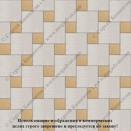 Квадрат со Вставкой (белый, жёлтый)