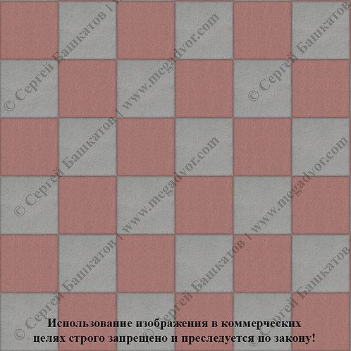 Квадрат 200*200 Шахматы (серый, красный)