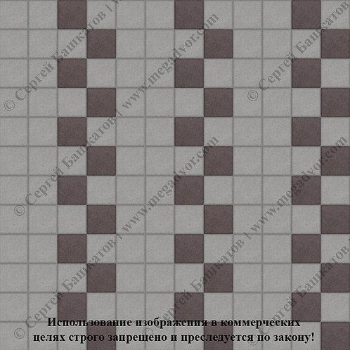 Квадрат 100х100 Эконом (серый, коричневый)