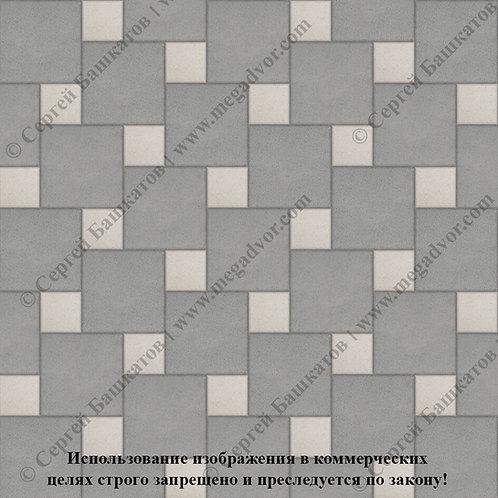 Квадрат со Вставкой (серый, белый)
