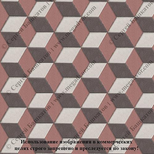 Ромб 3D Мини (белый, красный, коричневый)