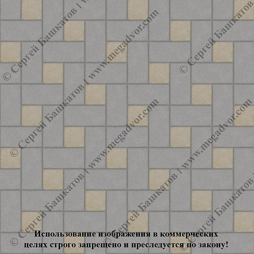 Кирпичик Вставка (серый, хаки)