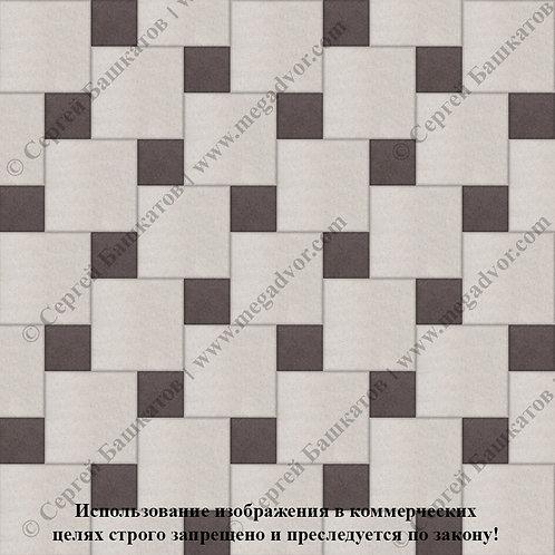 Квадрат со Вставкой (белый, коричневый)