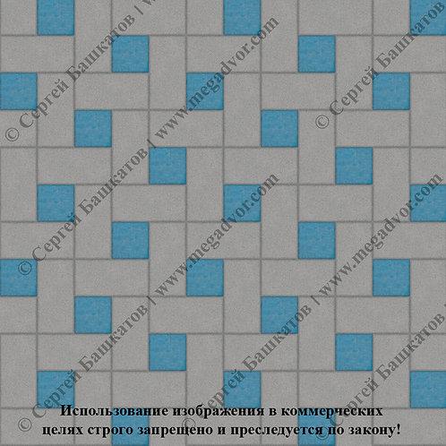 Кирпичик Вставка (серый, синий)
