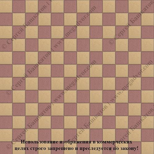 Квадрат 100х100 Шахматы (красный, жёлтый)