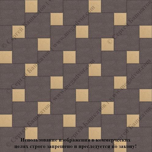 Квадрат со Вставкой (коричневый, жёлтый)
