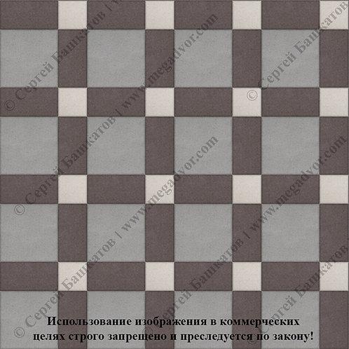 Квадрат 200*200 мм Корзинка (серый, коричневый, белый)