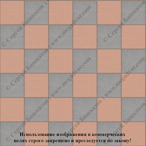 Квадрат 200*200 Шахматы (серый, оранжевый)
