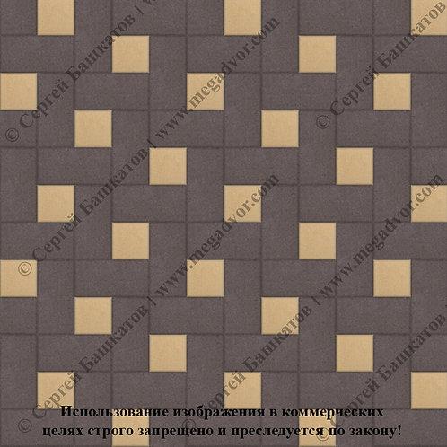 Кирпичик Вставка (коричневый, жёлтый)