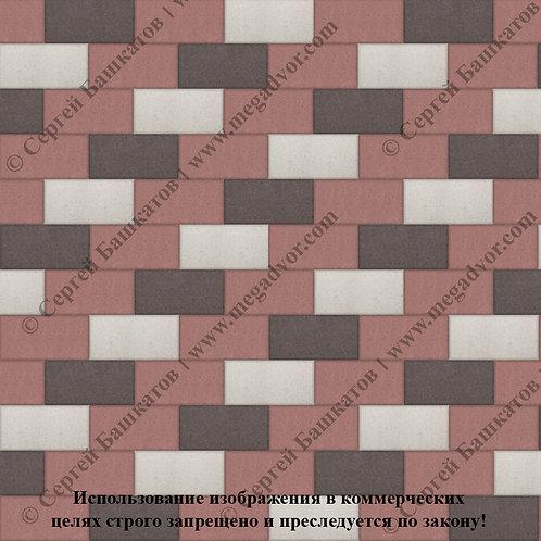 Кирпичик Стандарт (красный, коричневый, белый)