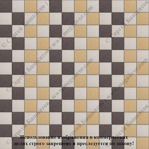 Квадрат 100х100 Стандарт (белый, коричневый, жёлтый)