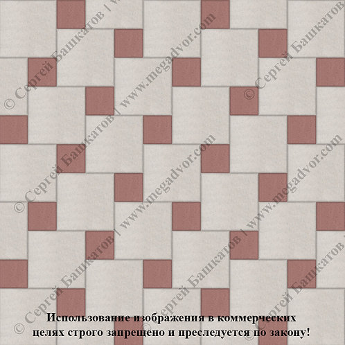 Квадрат со Вставкой (белый, красный)
