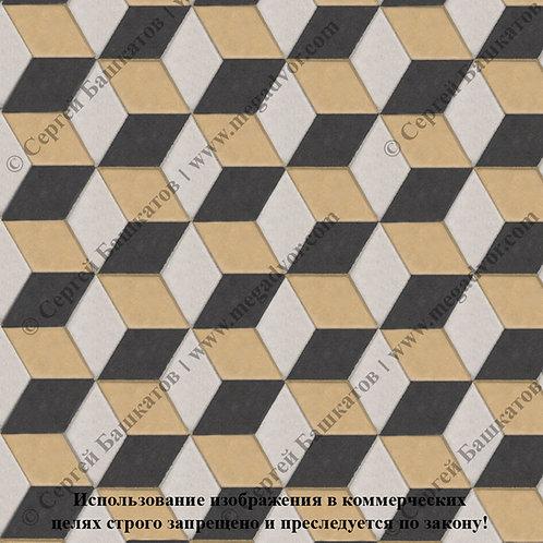 Ромб 3D Мини (белый, чёрный, жёлтый)
