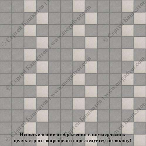 Квадрат 100х100 Эконом (серый, белый)