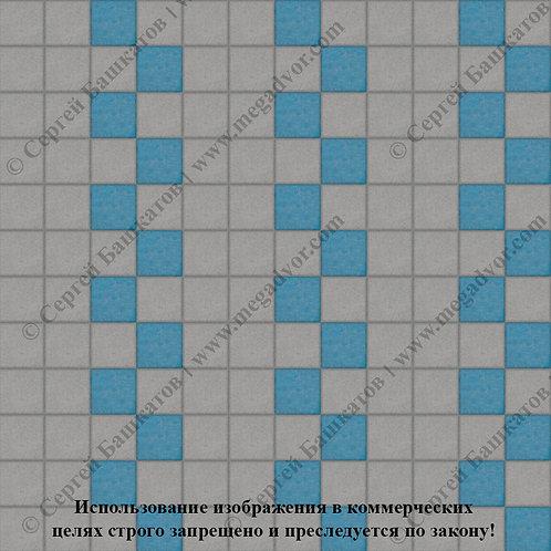 Квадрат 100х100 Эконом (серый, синий)